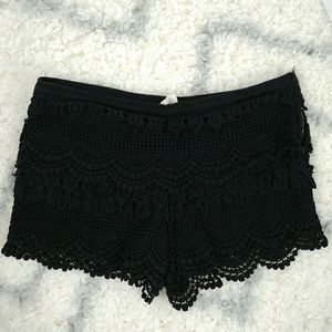 Pins and Needles Anthropologie Black Lace Shorts 4